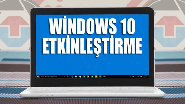 """Windows 10 X (Bütün Sürümler) Nasıl Etkinleştirilir? [Programsız] """"Windows 'u Etkinleştir"""""""