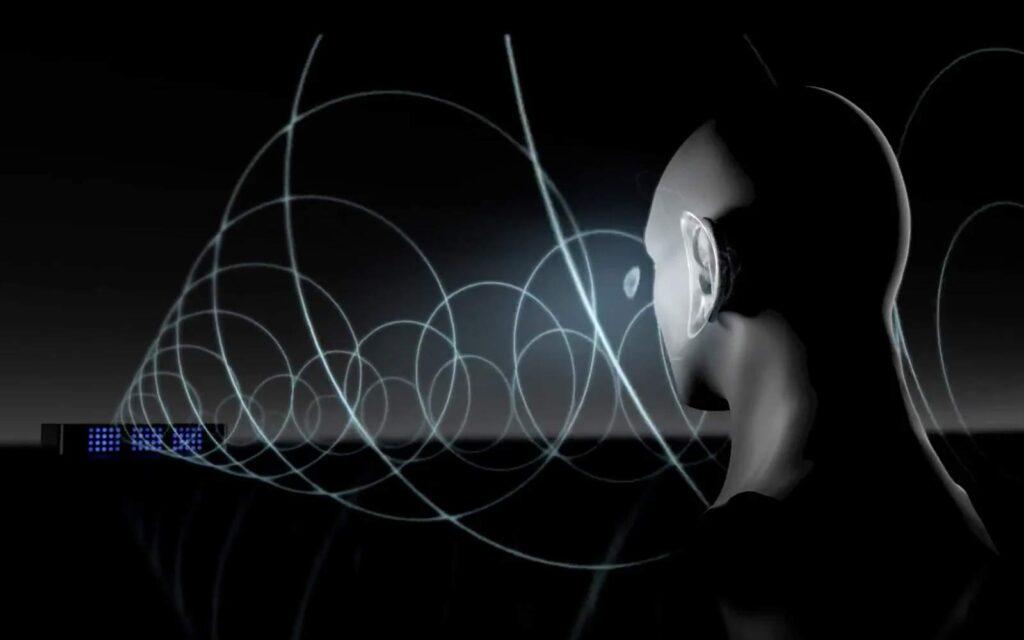 ses dalgaları insan kulağına gidiyor